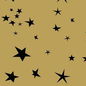 stars - black on mustard constellation || by sunny afternoon