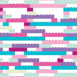 Interlocking Brick Wall - Pastel