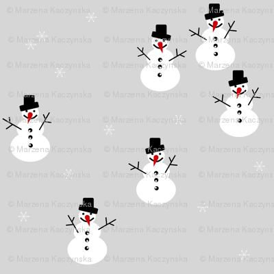 snowman winter christmas holiday 17  snowflakes - grey