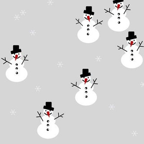 snowman winter christmas holiday 17  snowflakes - grey