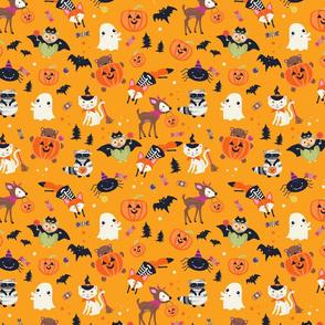 Woodland Halloween Characters