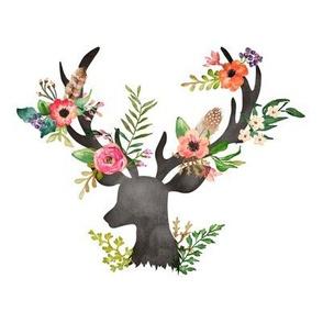 """8"""" Floral Dreams Deer"""