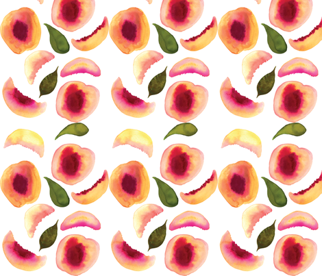 peachypattern fabric by pineapplemulu on Spoonflower - custom fabric