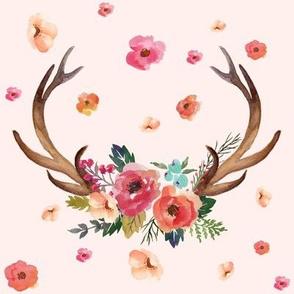 """8"""" Floral Deer Garden / Pink"""
