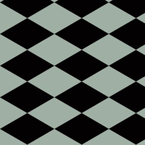 Harlequin diamonds - dusty green and black || by sunny afternoon