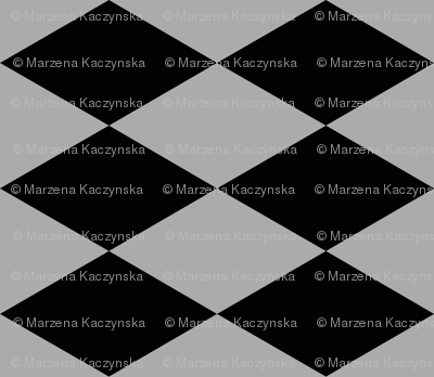 Harlequin diamonds - grey and black, autumn 17 || by sunny afternoon