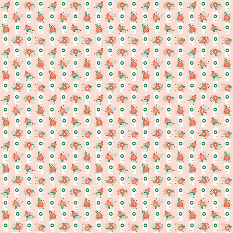 micro print pumpkin spice latte fabric fabric by charlottewinter on Spoonflower - custom fabric