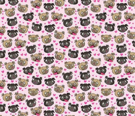 Fawn_black_pugs_pattern_repeattile-pink_shop_preview