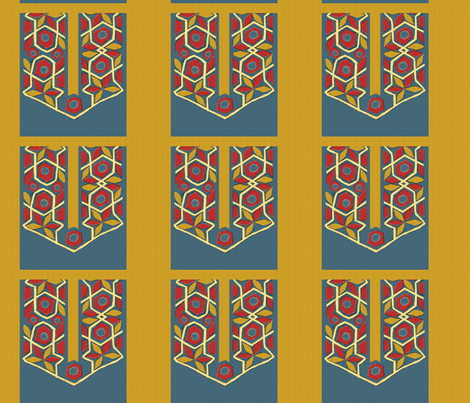 Egyptian Tent RidgePoint fabric by wanderingaloud on Spoonflower - custom fabric