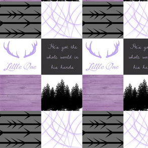 Purple little one scripture wholecloth
