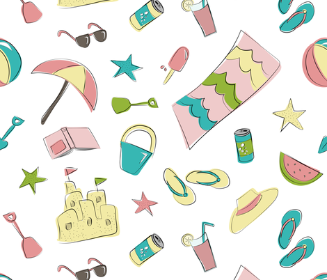 Summer Fun fabric by calobeedoodles on Spoonflower - custom fabric