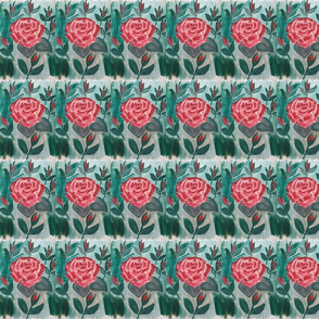 Red Rose with rose buds