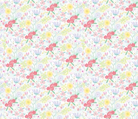 Flower-Fields01 fabric by y_me_it's_me on Spoonflower - custom fabric