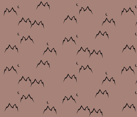 mountains - dusty cedar mountain tops    by sunny afternoon fabric by sunny_afternoon on Spoonflower - custom fabric