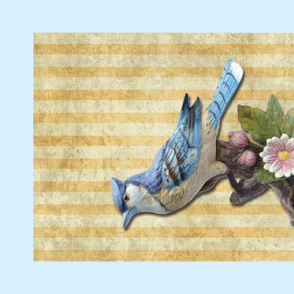 Blue Jay tea towel