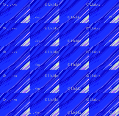 Diagonal Blue Grid Upholstery Fabric