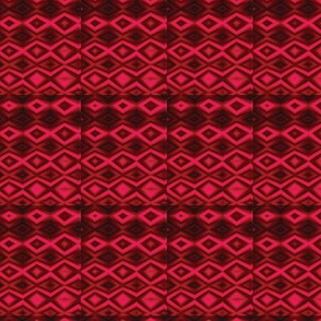 Diamonds Red Upholstery Fabric