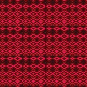 Diamonds Red Upholstery Fabric