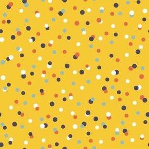 Circus Mouse Purple - Confetti Yellow