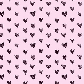 Doodle hearts pink