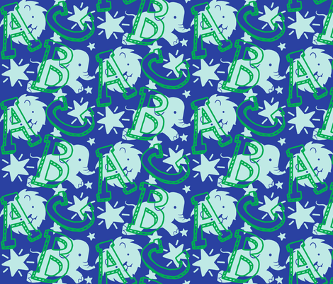 Circus ABC fabric by bethramsden on Spoonflower - custom fabric