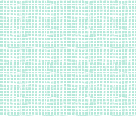 mint grid fabric fabric by charlottewinter on Spoonflower - custom fabric