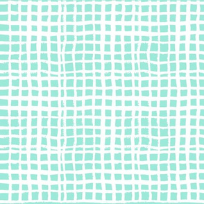 mint grid fabric