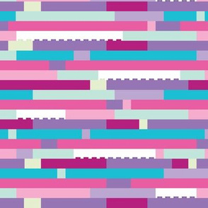 Interlocking Brick Wall Pastel - Dense