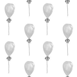 grey watercolor balloon design