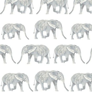 elephant fabric watercolor nursery baby design