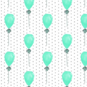 aqua balloon fabric mint balloons design dots and mint fabric