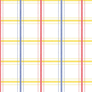 Thin Primary Color Plaid