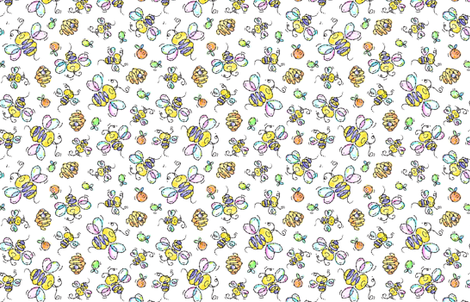 Bee_and_Bees fabric by margodepaulis on Spoonflower - custom fabric