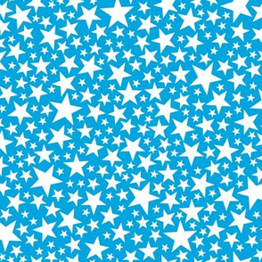 Star Shower* (White on Sky) || stars outer space galaxy universe pop art patriotic independence day July 4th geometric kids children baby nursery glitter sparkle