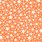 Star Shower* (White on Valencia) || stars outer space galaxy universe pop art patriotic independence day July 4th geometric kids children baby nursery glitter sparkle orange