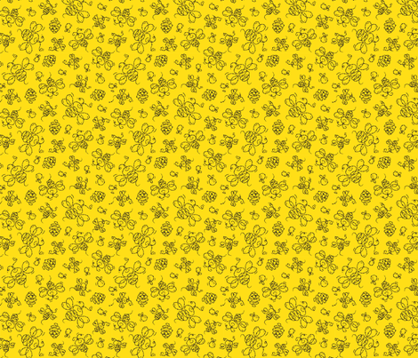 Yellow_Bee_Road fabric by margodepaulis on Spoonflower - custom fabric