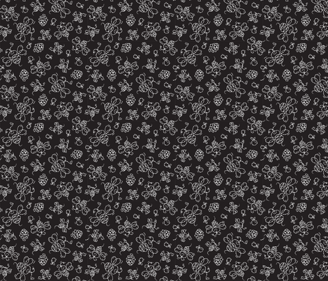 Black_and_Bees fabric by margodepaulis on Spoonflower - custom fabric