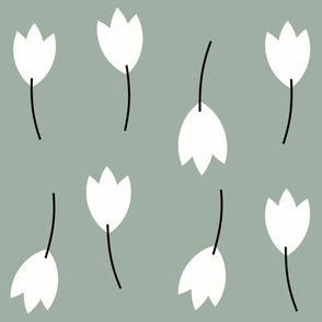 tulips - flowers winter floral dusty green kale autumn ||by sunny afternoon
