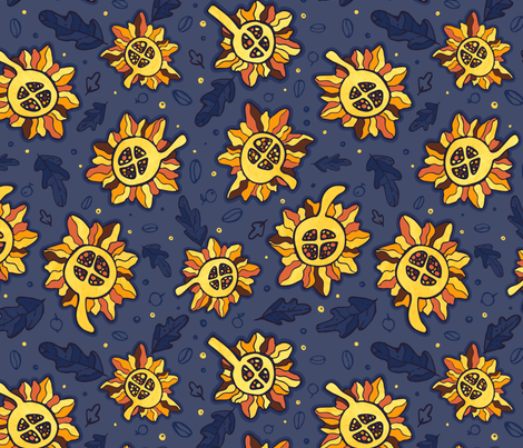African Sunflowers fabric by ruthenia on Spoonflower - custom fabric