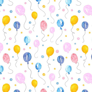 Happy Balloons on white background