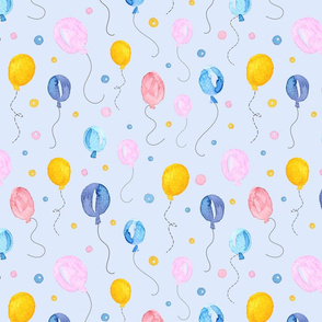 Happy Balloons on blue background