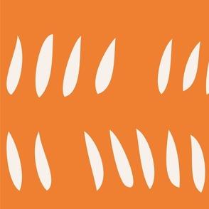 Hash Row Cutouts . Tangerine
