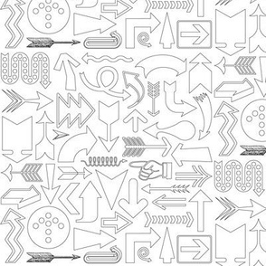 Any Direction (Color-Your-Own) || travel arrows compass symbol direction black and white coloring book