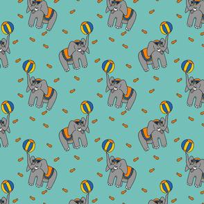 Circus Elephants - Blue