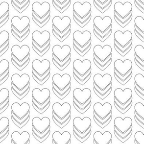 Sweethearts (Color-Your-Own) || heart candy hearts valentine valentines day love pop art black and white coloring book
