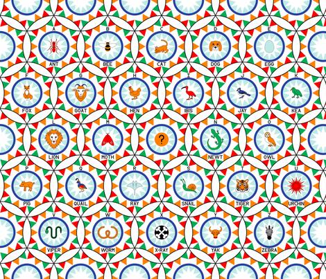 circus hoop alphabet fabric by sef on Spoonflower - custom fabric