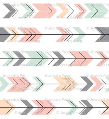 Fletching Arrows // Pink,Grey,Mint,Peach (90)