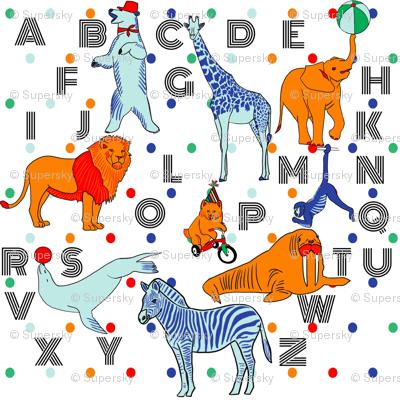 Circus alphabet animals