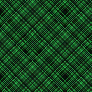 Hawaiian Christmas Green Diagonal Plaid