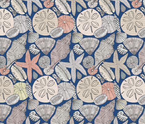 Beachcomber blue fabric by mariden on Spoonflower - custom fabric